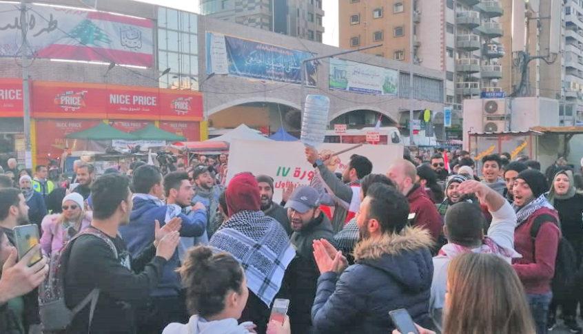 تظاهرة راجلة انطلقت من ساحة النور وجابت شوارع طرابلس