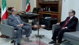 الرئيس عون استقبل الوزير بقرادوني والنائب إميل رحمة