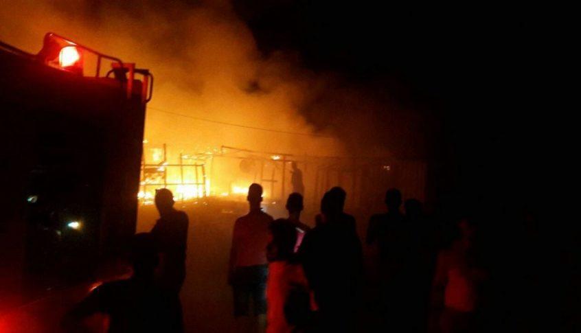قوى الأمن نفت مشاركة عناصرها بإحراق خيم وسط بيروت