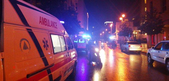 7 سيارات إسعاف تنقل الإصابات من وسط بيروت