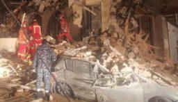 بالصور: انهيار مبنى في الأشرفية