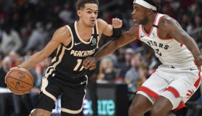 رابتورز ينجو من انتفاضة هوكس في دوري السلة الأميركي