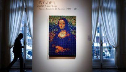 لوحة لموناليزا بمكعبات الروبيك تباع بأكثر من السعر المتوقع في باريس