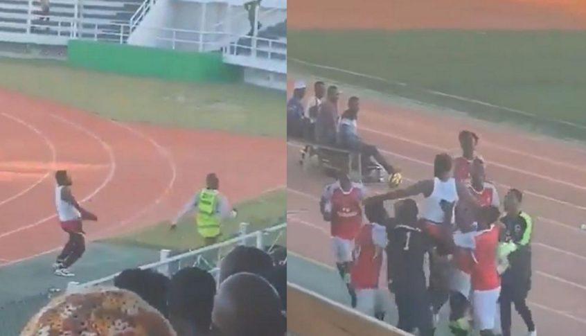 بالفيديو: مدرب يخلع سرواله أمام الجماهير بعد فوزه فى مباراة بتنزانيا..