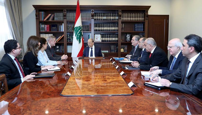 """الرئيس عون استقبل """"يان كوبيتش"""" وعرض معه التطورات الاقليمية الأخيرة"""