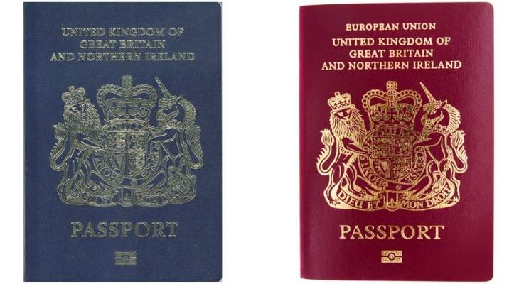 داخلية بريطانيا تعلن العودة لجوازات السفر الزرقاء التقليدية الشهر المقبل