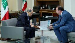 الرئيس عون استقبل رئيس مجلس ادارة مؤسسة مياه لبنان الجنوبي