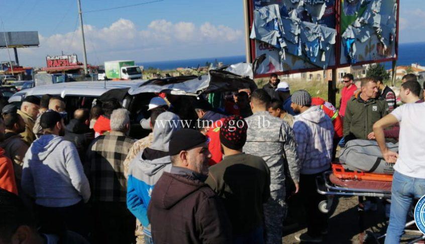 11 جريحاً في حادث سير على أوتوستراد البالما
