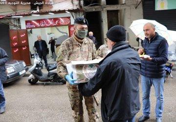 الجيش وزع حصص غذائية لعدد من العائلات في عكار طرابلس والكورة