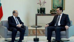 الرئيس عون استقبل دياب قبيل الاجتماع مع سفراء مجموعة الدعم الدولية