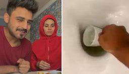 بالفيديو: مقلب مقزز من أحد مشاهير السعودية بزوجته!