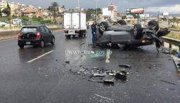 جريح اثر سقوط مركبة من على جسر الرويال-الضبية