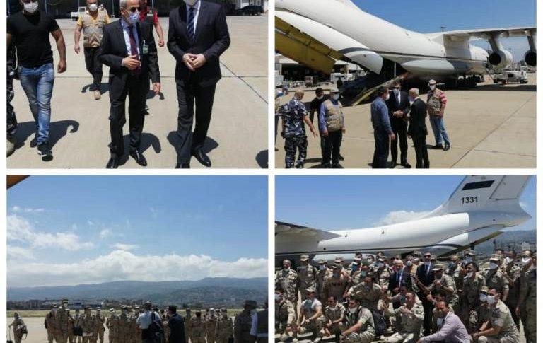 طائرة عسكرية مصرية وصلت إلى بيروت على متنها طاقم جديد للمستشفى المصري