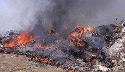 إحراق نفايات في خراج بلدة عاصون في الضنية