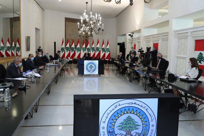 الرئيس عون يلتقي سفراء الدول الخمس الدائمة العضوية بمجلس الأمن والمنسق الخاص للأمم المتحدة بحضور دياب