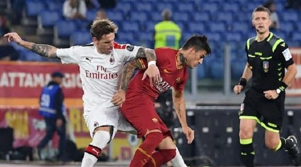 """الدوري الإيطالي: قمة مثيرة تجمع ميلان مع روما في """"سان سيرو"""""""