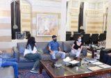 دياب التقى وفداً يمثل المتقدمين إلى دورة قوى الأمن الداخلي