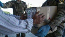 بالصور: الجيش اللبناني يوزع نحو 300 حصة غذائية