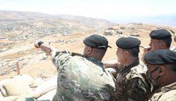 رئيس الأركان تفقد فوج الحدود البرية الثاني ولواء المشاة التاسع