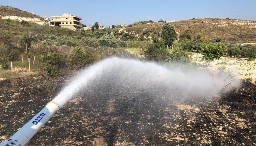 حريق في ضهور الصرفند والدفاع المدني يعمل على إهماده