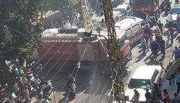 اصابة اكثر من 16 شخصا بحالات اختناق جراء حريق داخل أحد المنازل في أبي سمرا