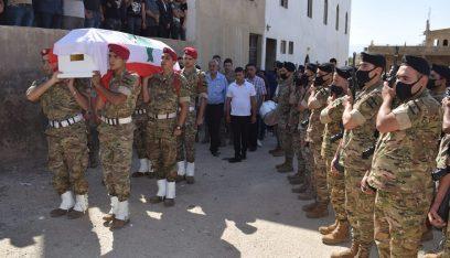 الجيش: تشييع المعاون الشهيد علي العفي