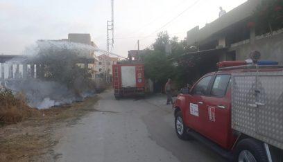 إهماد حريق في ببنين