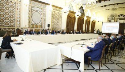 اجتماع تنسيقي في السراي الحكومي لمناقشة خطة الاستجابة الوطنية عقب انفجار بيروت