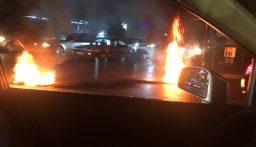 قطع الطريق العام في العين بعلبك من قبل محتجين