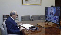 الرئيس عون: أكرر النداء للمجتمع الدولي لمساعدة لبنان على تحمّل اعباء النازحين وعودتهم الآمنة ورفض اي شكل من اشكال دمجهم في المجتمع كما رفض توطين اللاجئين