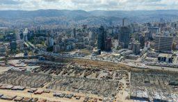 بالصورة: موقع الكارثة في بيروت من الفضاء