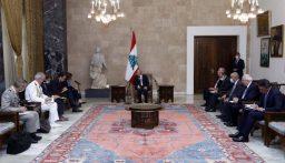 وزيرة الجيوش الفرنسية بعد لقائها الرئيس عون: سأكون في مرفأ بيروت بعد قليل لاستقبال حاملة الطائرات الفرنسية