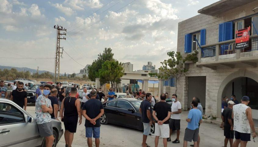 محتجون أوقفوا تشغيل مضخات مياه تغذي قرى قضاء الكورة
