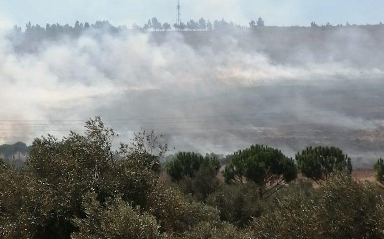 حريق على طريق المنصف