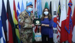 وزيرة الدفاع زينة عكر في زيارة تفقدية الى جنوب لبنان(بالصور)