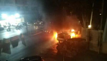 محتجون قطعوا الأوتوستراد الشرقي في صيدا