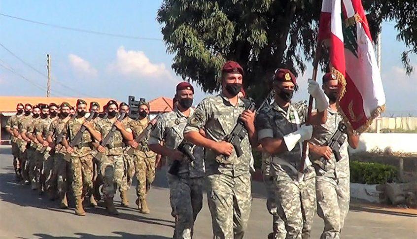 حفل تقديم جنود متمرنين ومجندين ممدّدة خدماتهم إلى العلم