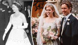 بالصور: ثوب الملكة وحفيدتها يدخل التاريخ ويُعرض في المتحف
