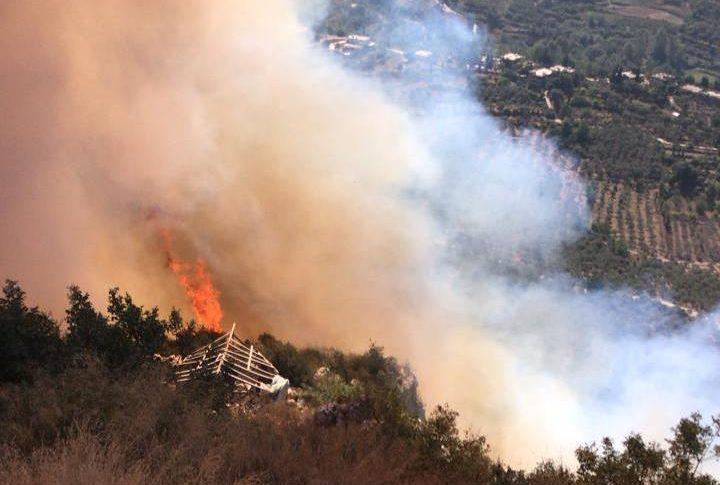إهماد حريق في الحويش وآخر على طريق عام الدورة الشقدوف العالي