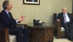 المعلم استقبل المبعوث الخاص للأمين العام للأمم المتحدة الى سوريا