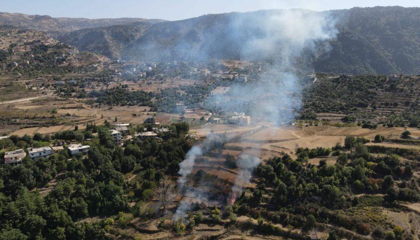 حريق في حرف الصنوبر في اعالي عكار والاهالي يناشدون المعنيين