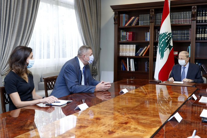 """الرئيس عون اطلع من """"كوبيتش"""" على مداولات جولتي المفاوضات لترسيم الحدود"""