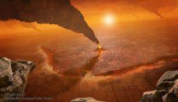 """صورة جديدة """"مرعبة"""" لثوران بركان على كوكب الزهرة!"""