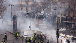 مواجهات محتدمة بين الشرطة الفرنسية ومتظاهرين في باريس
