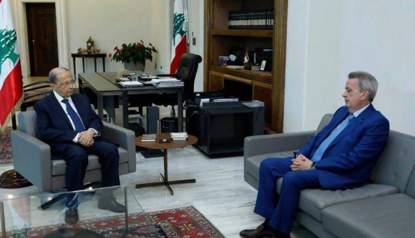 الرئيس عون بحث مع حاكم مصرف لبنان الإجراءات الايلة الى استمرار دعم المواد الأساسية