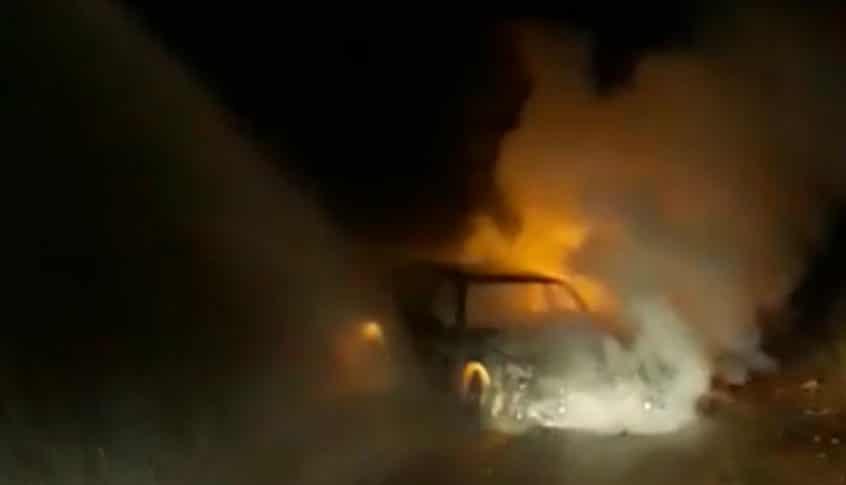 السيطرة على حريق أشجار في مشمش العكارية تسبب به اشتعال سيارة
