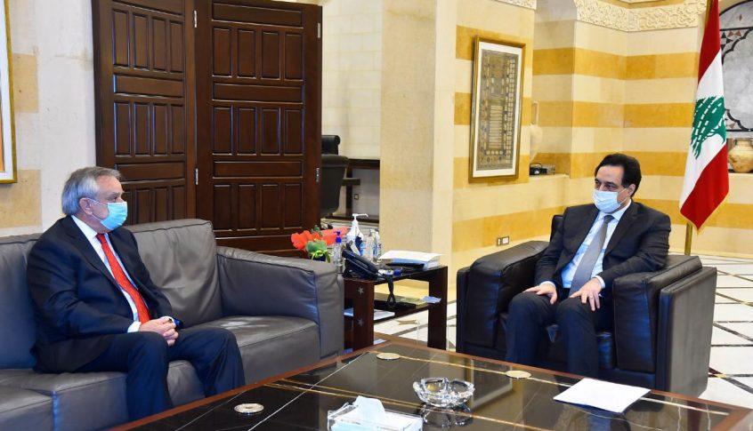 دياب استقبل سفير تشيلي في زيارة وداعية