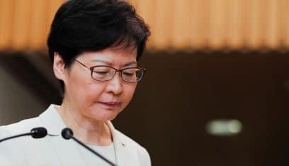 رئيسة هونغ كونغ: يشرفني أن تفرض الحكومة الأميركية عقوبات غير مبررة علي