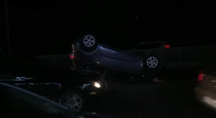الدفاع المدني: جريح اثر حادث سير على اوتوستراد جونية
