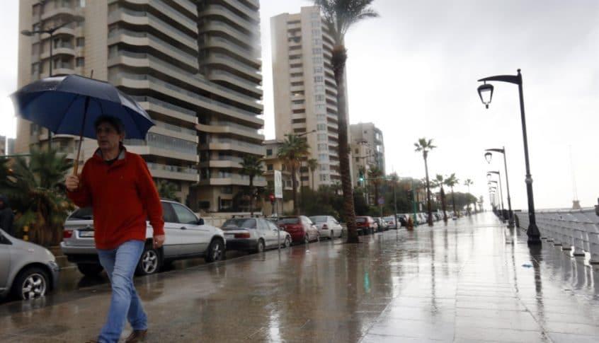 طقس ماطر.. منخفض جوي يزور لبنان غداً